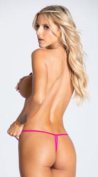 Yandy Crotchless Heartbreaker Thong Panty - Pink