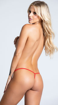 Yandy Lace After Dark G-String - Red