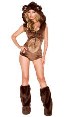 Yandy Deluxe Brown Bear Costume - Brown