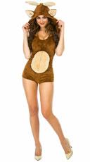 Yandy Deluxe Deer Romper Costume - Brown