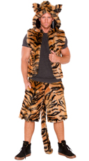 Men's Furry Tiger Costume - as shown