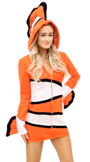 Yandy Cozy Orange Fish Costume - Orange