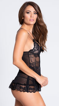 Yandy Playtime Babydoll Set - Black