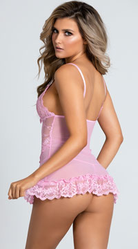 Yandy Playtime Babydoll Set - Crystal Rose