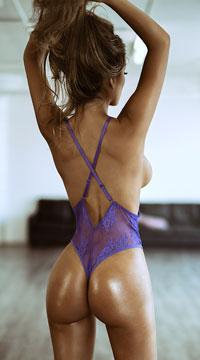 Yandy Vivacious V Lace-up Teddy - Purple