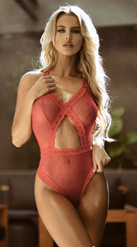 Yandy Ava Geometric Diva Teddy - Rose