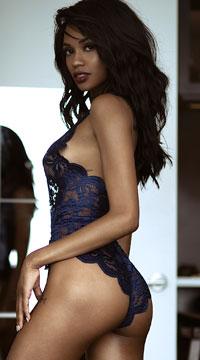 Yandy Midnight Infatuation Lace Romper -  - Estate Blue