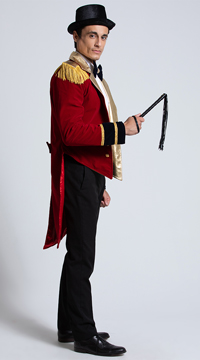 Yandy Mr. Ringmaster Costume - Red/Black