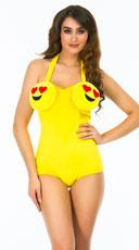 Yandy Sexy Heart Eyes Emoji Costume - Yellow