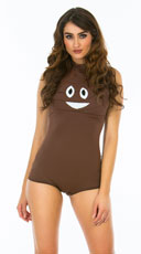 Yandy Sexy Poop Emoji Costume - Brown