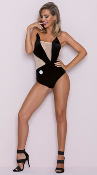 Sexy Playboy Bunny Logo Costume - Black