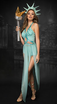 Yandy Statue Of Liberty Costume - Green