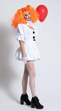 Yandy Dancing Sewer Clown Costume - White