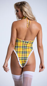 Yandy Girl Without A Clue Lingerie Costume - Yellow