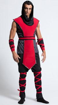 Yandy Men's Lethal Assassin Costume - Black/Red