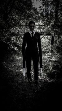 Yandy Creepy Slim Man Costume - as shown