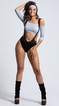 Yandy Let's Get Into Physical Costume - Grey/Black
