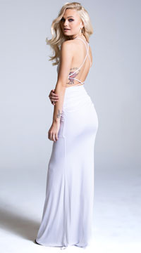 Yandy White The Classic Gal Gown - White