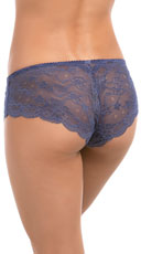 Carinne Dotted Lace Boyshort - Navy