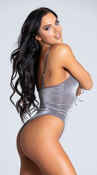 Yandy Play Me Risque Bodysuit - Grey