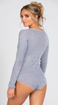Yandy Cozy Sweater Lounge Romper - Grey
