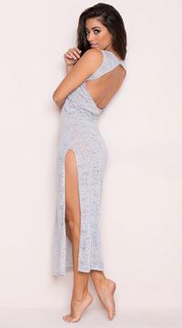 Yandy Dreamy Lounge Dress - Grey