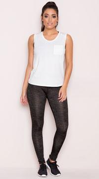 Yandy Basic Cardio Leggings - Heather Green