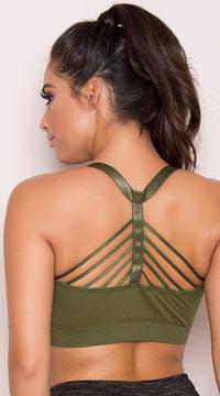Yandy Multi-Strapped Sports Bra - Green