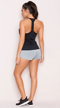 Yandy Soft Dolphin Short - Heather Grey
