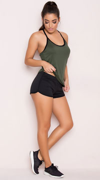 Yandy Soft Dolphin Short - Black