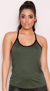 Yandy Athletic Tank Top - Green