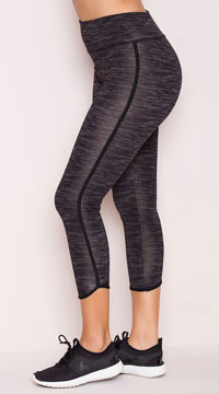 Yandy Bound Capri Leggings - Charcoal Grey