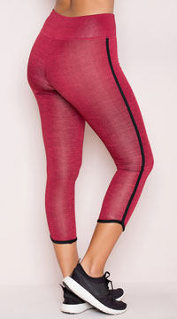 Yandy Bound Capri Leggings - Burgundy