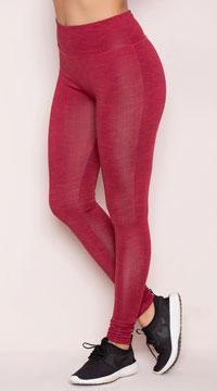 Yandy Basic Cardio Leggings - Burgundy