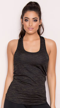 Yandy Brushed Tank Top - Green