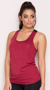 Yandy Brushed Tank Top - Burgundy