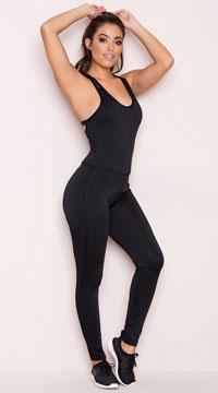 Yandy Cardio Jumpsuit - Black