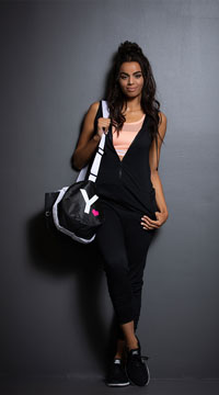 Yandy Hoodie Jumpsuit - Black