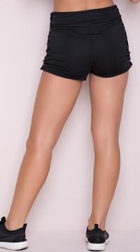 Yandy Lace-Up Hot Short - Black