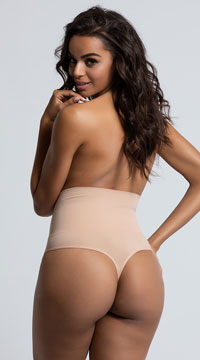 Yandy Seamless Shaping Thong - Almond