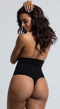 Yandy Seamless Shaping Thong - Black