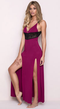 48a74c41751 Yandy Draping Lounge Dress - Navy Yandy Draping Lounge Dress - Wine ...