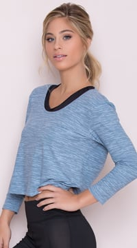Yandy Twisted Active Top - Blue