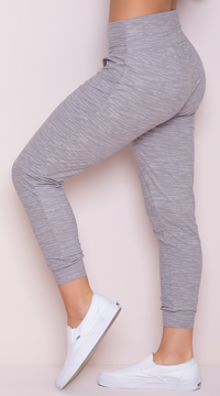 Yandy Relaxed Jogger Capris - Grey