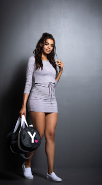 Yandy Casual Active Dress - Grey