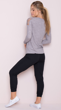 Yandy Relaxed Jogger Capris - Black