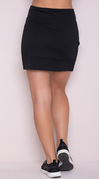 Yandy Soft Active Skirt - Black