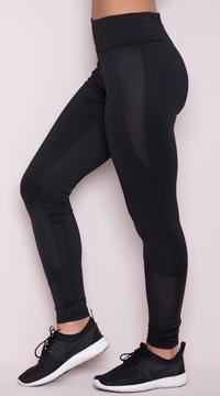 Yandy Striking Mesh Leggings - Black
