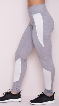 Yandy Striking Mesh Leggings - Grey