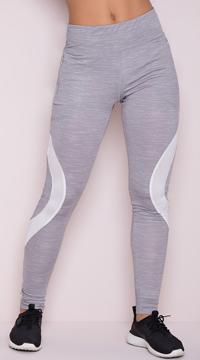 Yandy Contour Mesh Leggings - Grey